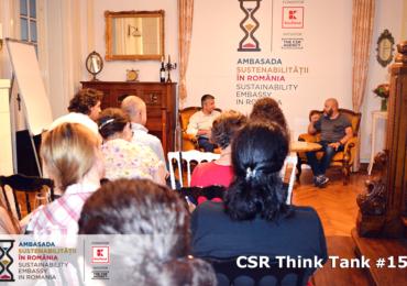 """CSR Think Tank #15: """"Ce este mai important pentru un business: profitul sau responsabilitatea?"""""""