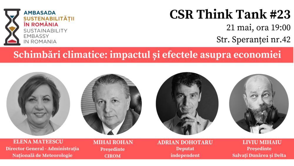 "Dezbatere ""Schimbari climatice: Impactul si efectele asupra economiei"""