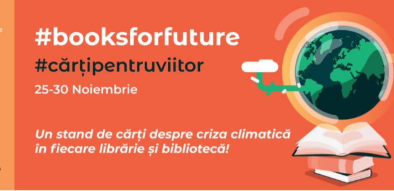 #Cărțipentruviitor | Apel pentru cărți despre criză climatică în librării și biblioteci