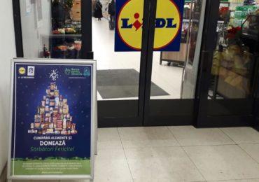 Înainte de Crăciun, clienții Lidl pot dona alimente pentru persoanele defavorizate