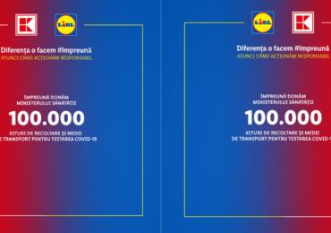 Kaufland și Lidl donează 100.000 de recoltoare pentru identificarea coronavirusului