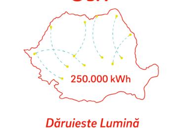 Dăruiește lumină | E.ON România direcționează 250.000 kwh de către cei care au nevoie de lumină