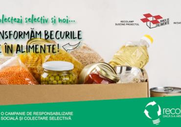 Inițiativă Recolamp: Becurile arse se transformă în alimente pentru persoanele defavorizate