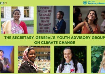 Șapte tineri din întreaga lume, membri ai primului Grup Consultativ de Tineret pe Schimbări Climatice din cadrul ONU