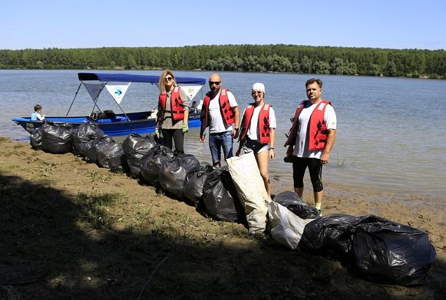 Patrula Zero Plastic: Peste o tonă de deșeuri adunate în Delta Dunării