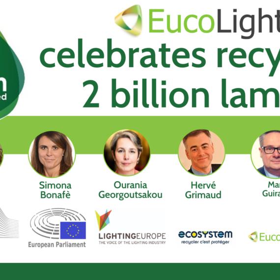 Două miliarde de lămpi reciclate în Europa de asociațiile membre Eucolight