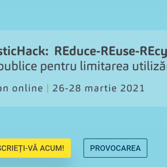 "Hackathon online ""#REplasticHack: REduce-REuse-Recycle"", organizat de Ambasada Franței și Institutul Francez"