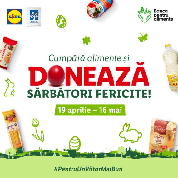 Lidl România, în parteneriat cu rețeaua Băncilor pentru Alimente, organizează în perioada sărbătorilor pascale, în 120 de magazine din țară, o nouă colectă de alimente pentru susținerea comunităților vulnerabile