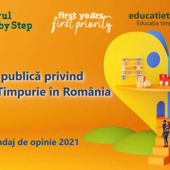 Primul sondaj de opinie privind percepția Educației Timpurii în România. Mai puţin de 1 din 6 părinţi îşi doresc copii creativi, majoritatea vor disciplină şi respect