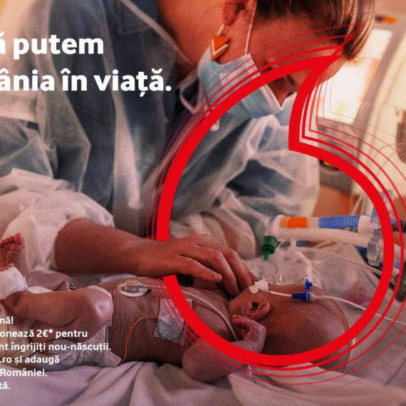 Fundația Vodafone România finanțează cu 5 milioane de lei  renovarea și dotarea secțiilor de nou-născuți