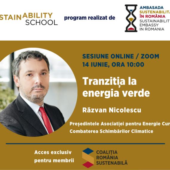 Sustainability School #4 – Tranzitia la energia verde