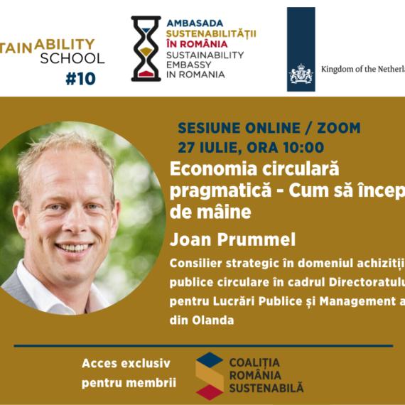Sustainability School #10: Economia circulara pragmatica. Cum sa incepem de maine