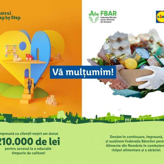 Împreună cu clienții săi, Lidl România investește 210.000 de lei în proiectele de susținere a educației timpurii ale Centrului Step by Step