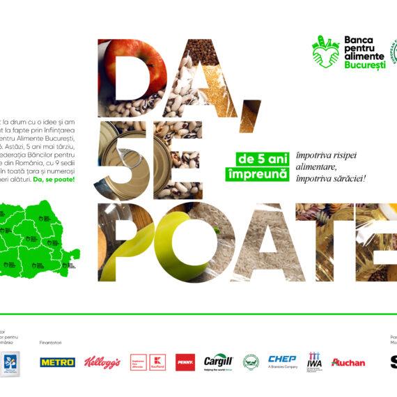 Banca pentru Alimente București marchează 5 ani de activitate în combaterea risipei alimentare și sărăciei în România