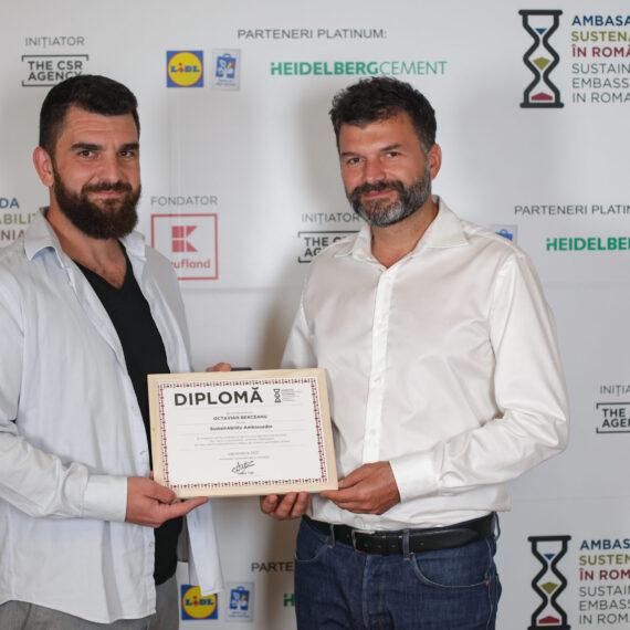 Octavian Berceanu a primit titlul de Ambasador al Sustenabilității în luna septembrie