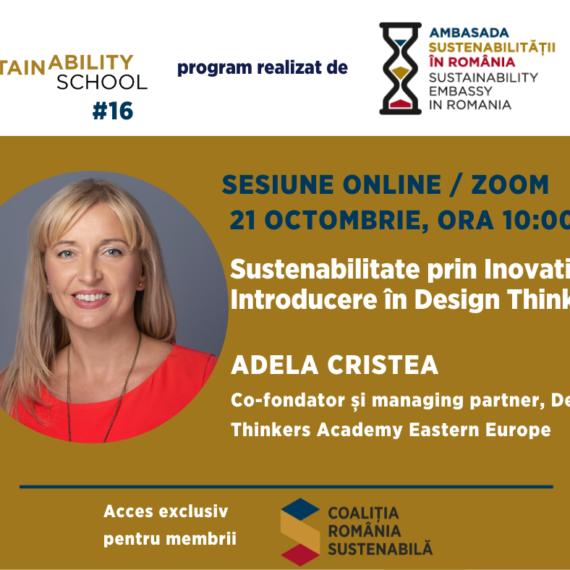 Sustainability School #16: Sustenabilitate prin Inovatie. Introducere in Design Thinking