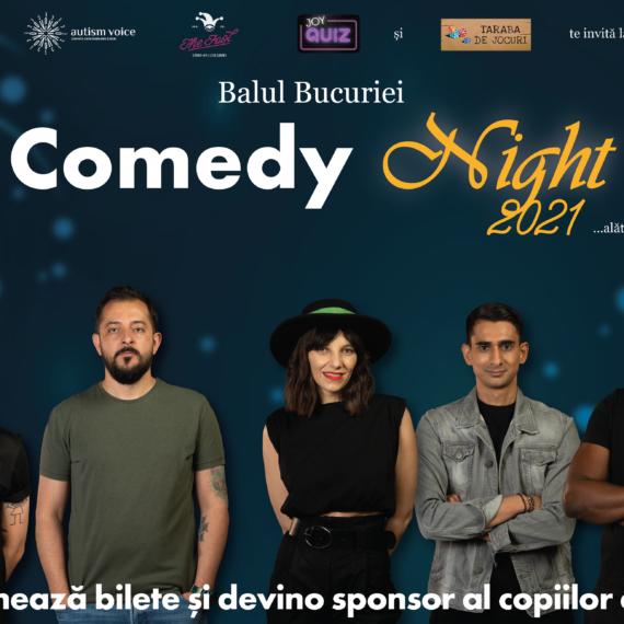 Asociația Autism Voice organizează Balul Bucuriei Comedy Night 2021, în beneficiul a 400 de copii cu autism